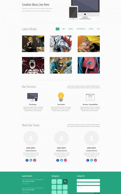one page brochure template free Lovely 35 Free Single Page Website Template PSD CreativeCrunk