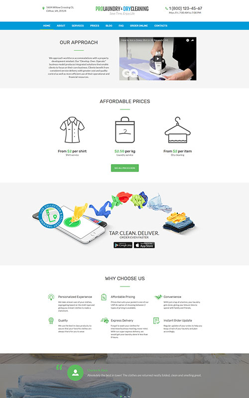 laundry-wordpress-theme
