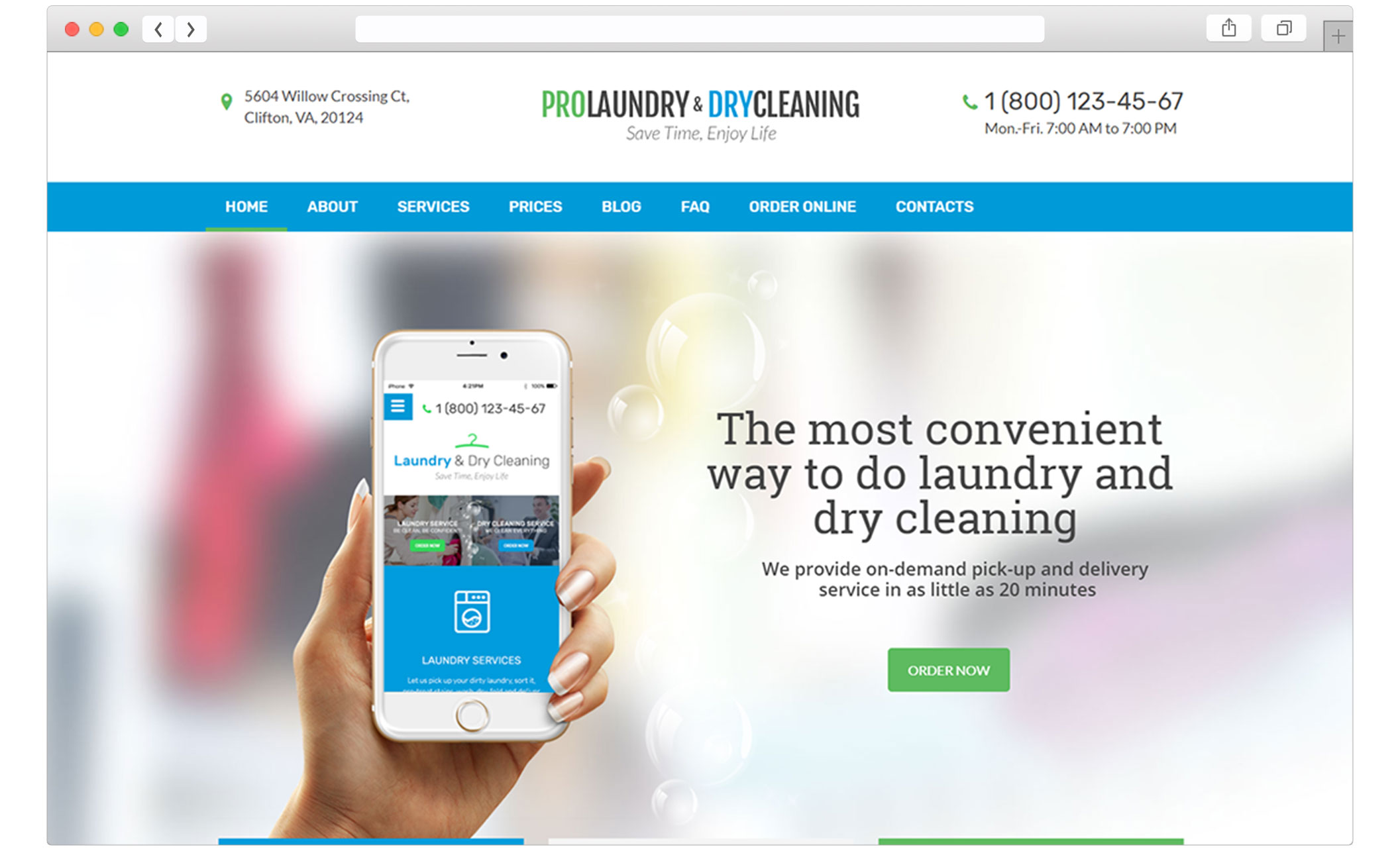 Laundry - Dry Cleaning Services WordPress Theme | SmartDataSoft