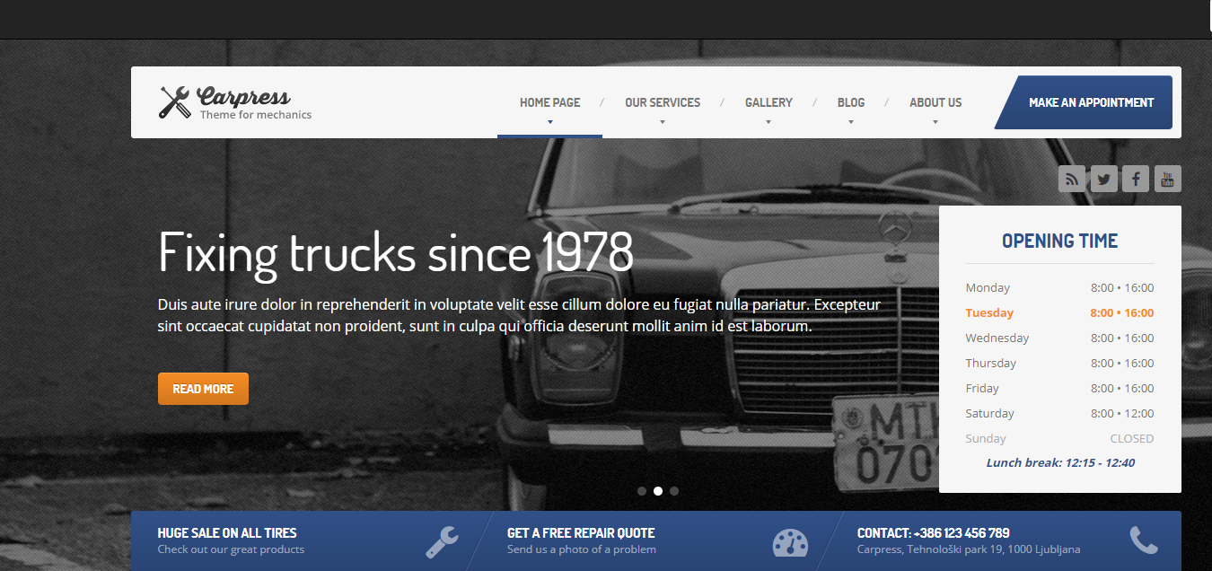 car-repair-wordpress-theme-template