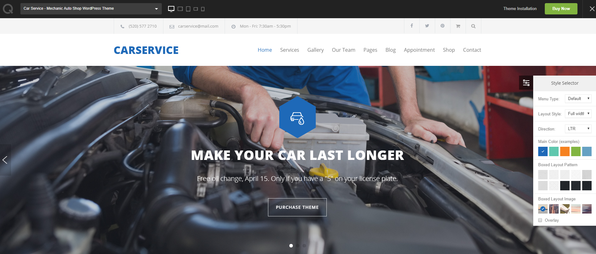 Car-service-wp-theme