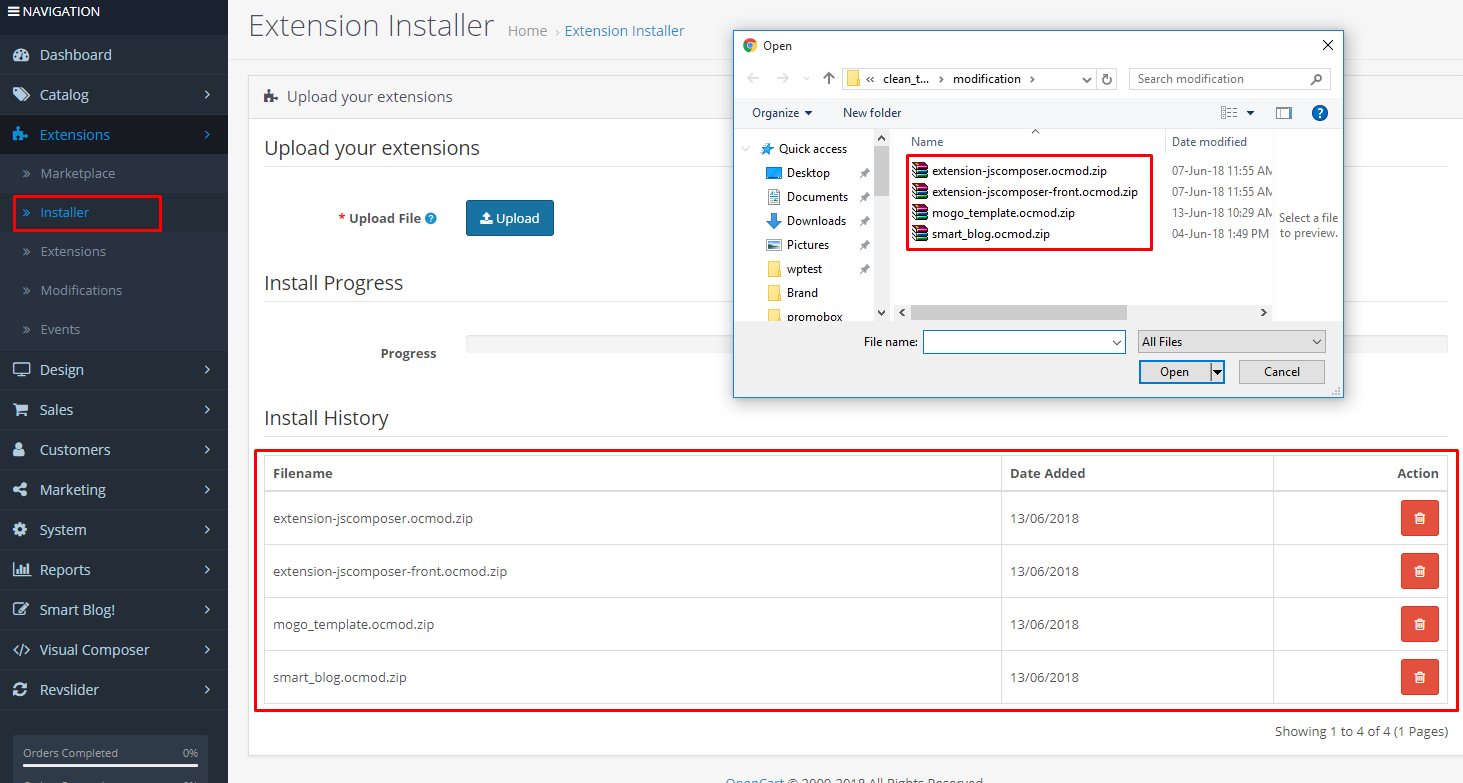How-to-install-Mogo-theme-at-OpenCart-CMS-5-EXTENSIONS-installer