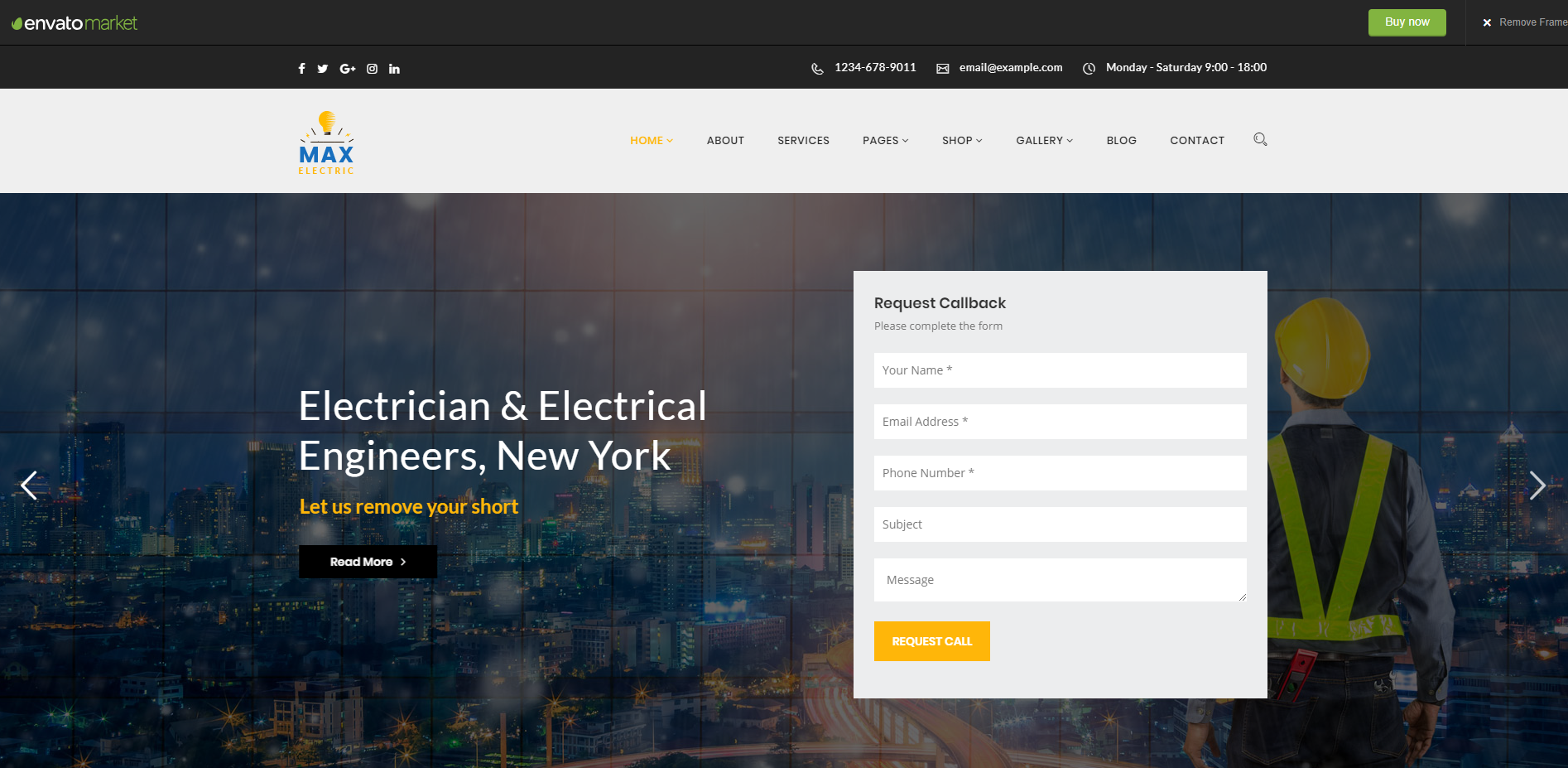 electricity-wordpress-theme
